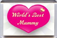 "World's Best Mummy"" Fridge Magnet UNIQUE Mother's Day Gift from the Yummy Grandmummy Range"